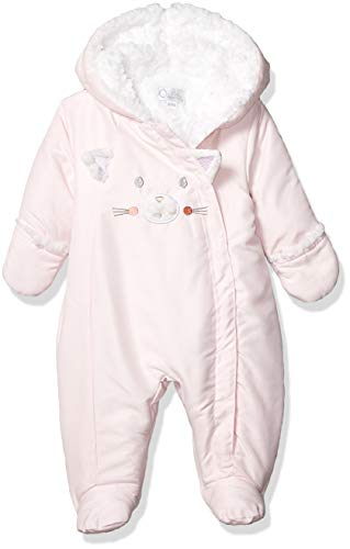 Quiltex Girls' Toddler Kitty Heavyweight Sided Zip Warm Pram Suit, 3-6 Months