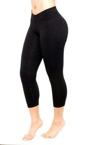 de882e011 Black Capri – Bon Bon Up Women s Leggings with Internal Body Shaper -Butt  Lifter