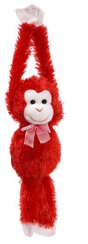 Plush Hanging Valentine's Monkeys, 17¼ In. - 1/ea. - Choose Your Color! ()