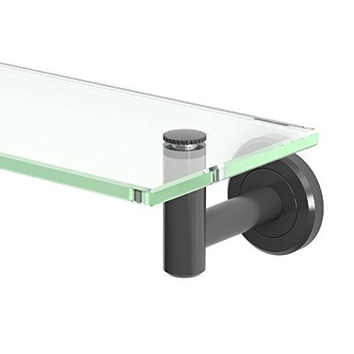- Gatco 4246MX Latitude II Glass Shelf, Matte Black