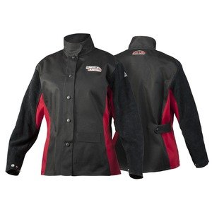 Lincoln Electric Women's Leather Sleeved Welding Jacket | Women's Large | K3114-L by Lincoln Electric