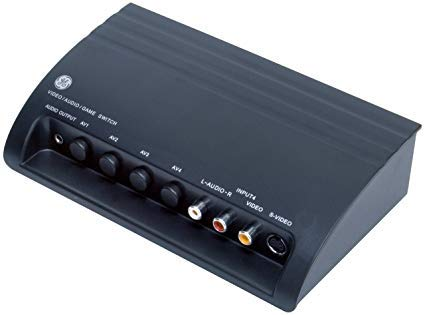 GE 38807 Pro Audio/Video Switch with S-Video for 4 Devices ()