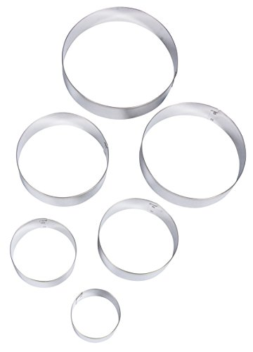 Rayher Circle Shaped Cookie Cutters, Silver