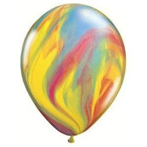 "Traditional Superagate Tie Dye Assorted 11"" Latex Balloons (12 Count)"