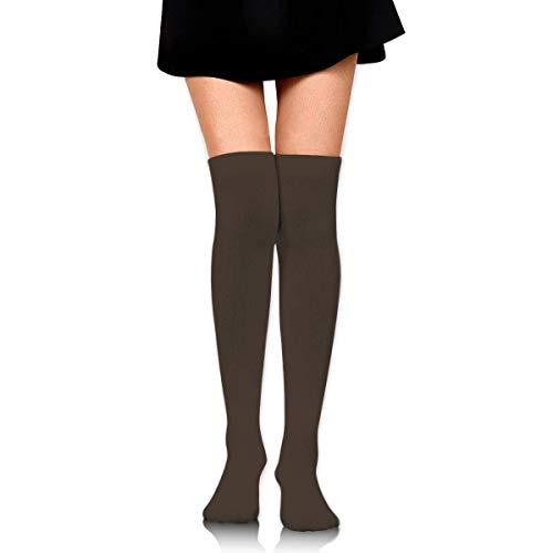 DANIEL MOORE Women Thigh High Stockings Over The Knee High Leg Warmer Dark Lava Solid Color Boot Stocking Extra Long Sport Tube Socks