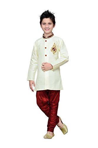 The Stylam Indian Designer Partywear Ethnic Wedding Cream Wedding Readymade Kids by The Stylam