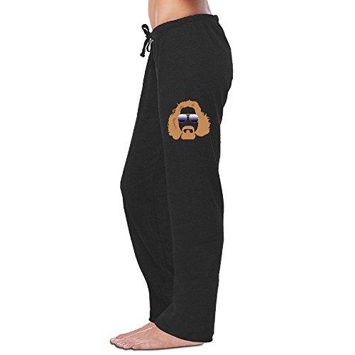 kim-womens-workout-pants-dude-man-cartoon-black-size-m
