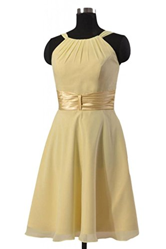 Bridesmaid Short Cocktail Dress Dress Chiffon 35 BM3728 Halter DaisyFormals navy Party qpadHttw