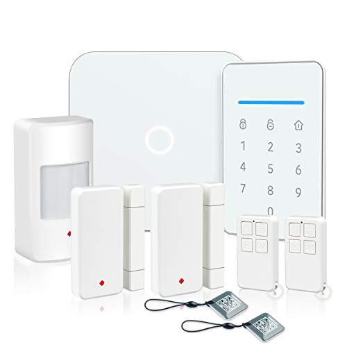 LarmTek Smart Wi-Fi Alarm System with, Alarm Host, Motion Sensor and Remote Smart Phone Control, IP Camera(Optional),Wireless LAN Wi-Fi GSM Cellular Home Security System with Easy DIY Setup, AK01-W