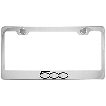 Amazon.com: Fiat 500 Chrome License Plate Frame con tapa ...