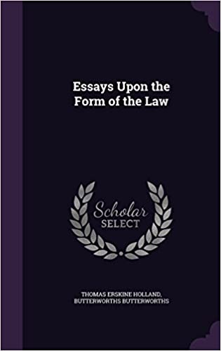 Book Essays Upon the Form of the Law
