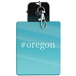 #oregon - Hashtag LED Key Chain with Easy Clasp
