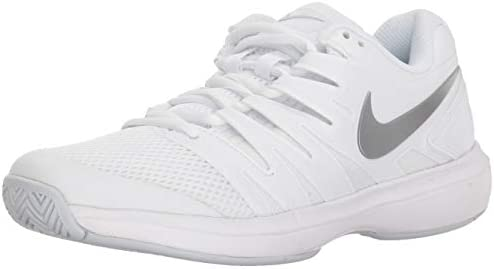 Nike Women s Air Zoom Prestige Tennis Shoes 11 B US, White Metallic Silver Pure Platinum