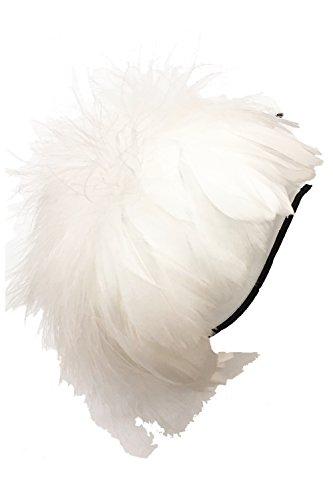 b475c58ec56e9 (ADOSSY) 羽根 ヘッドドレス ふわふわカチューシャ 髪飾り アクセサリー ハロウィン パーティ クラブイベント (