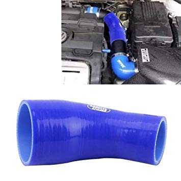 Uniqus Universal 76-89mm 45 Degrees Car Constant Diameter Silicone Tube Elbow Air Intake Tube Silicone Intake Connection Tube Special Turbocharger Silicone Tube