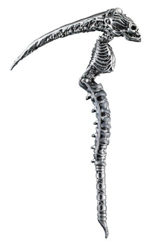 Disguise Men's Sin Scythe Costume Accessory, Silver, Adult -