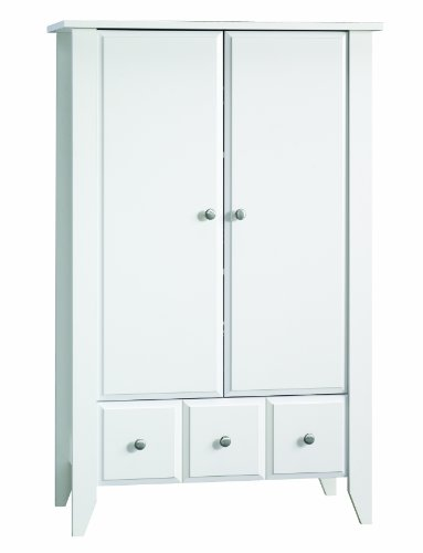Child Craft Shoal Creek Ready-to-Assemble Armoire, Matte White by Child Craft