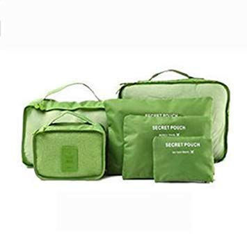 Designeez 6Pcs Waterproof Travel Storage Bags Packing Cube Clothes Pouch  Luggage Organizer  Amazon.in  Home   Kitchen 385396f10b9b3