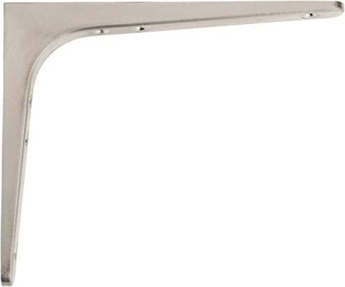 (55 Lb Capacity, Satin Stainless Steel Coated, Shelf Bracket pack of 3)