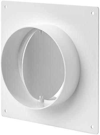 Bride murale /Ø 125 mm avec clapet anti-retour raccord rond tuyau de ventilation