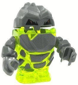 LEGO Rock Monster Sulfurix (Trans-Neon Green) Power Miners Minifigure (Trans Green Neon)