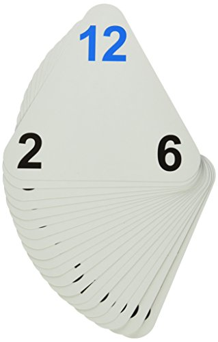 Learning Advantage 4552 The Original Triangle Flash Cards, Multiplication and Division, Grade: 2 to 6, 6.5 Height, 1.25 Width, 6.25 Length