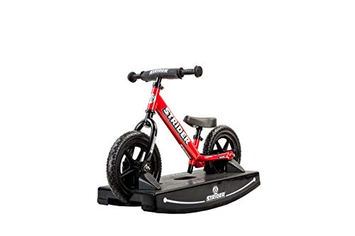Strider, 2-in-1 Rocking and Ride-On Balance Bike Toy, for Ages 6 Months to 5 Years, Red