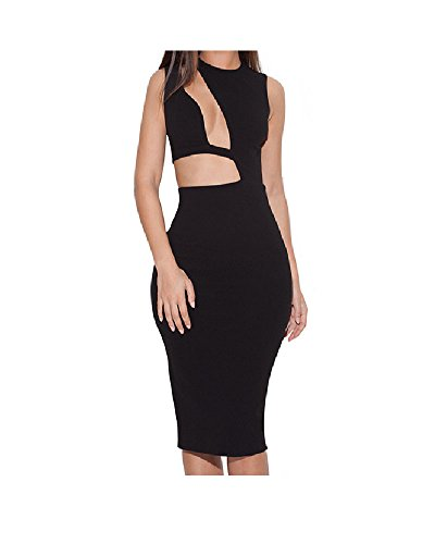 Whoinshop Women's Sexy Hollow Evening Party Bandage Dress - 2015 Dress For Evening Party