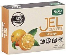 Bakol Jel Dessert 3 oz. Vegan & all Natural - Pack of 3 (Orange) ()