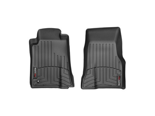 WeatherTech Custom Fit Front FloorLiner for Ford Mustang (Black) (2007 Mustang Weather Tech)