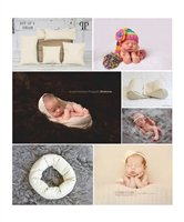 STARTER SET #17 ~ Squishy poser, Doughnut Poser & Set of 5 Posey positioners ~ NEWBORN PHOTO PROP by Posey Pillow