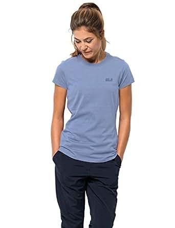 Jack Wolfskin Women's Essential T Women's Organic Cotton T-Shirt,Shirt Blue,X-Small