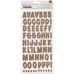 Bulk Buy: American Crafts  Thickers Alphabet Stickers 5.5in.