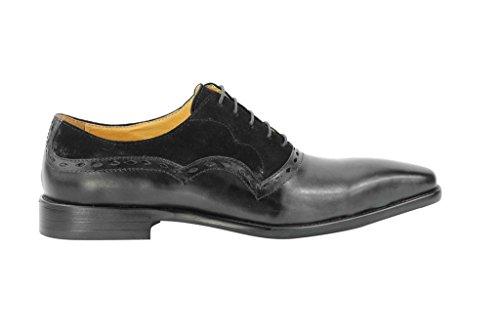 Herren Echt Leder Schwarz Derby Smart Casual Classic Oxford Formale Office Schuhe