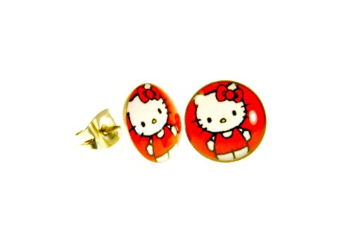 e57f2d84f 10mm Stainless Steel Hello Kitty Red Color Earring Stud - Buy Online in Oman.    Jewelry Products in Oman - See Prices, Reviews and Free Delivery in  Muscat, ...