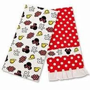 Disney Minnie Mouse Kitchen Towel Set of 2 Towels 1 Ruffled 1 Accessories