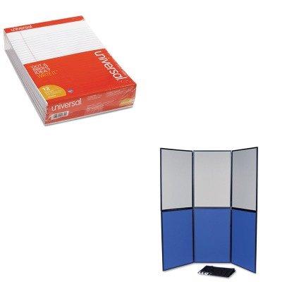 KITQRTSB93516QUNV20630 - Value Kit - Quartet ShowIt Six-Panel Display System (QRTSB93516Q) and Universal Perforated Edge Writing Pad - Display System 6 Panel