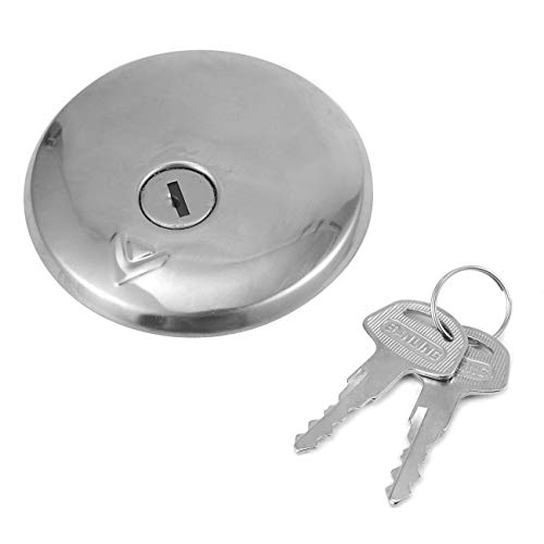 INNOGLOW Motorcycle Fuel Gas Tank Cap Cover Keys for Kawasaki VN400 VN800 Vulcan 400 Classic - Covers Motorcycle Tank