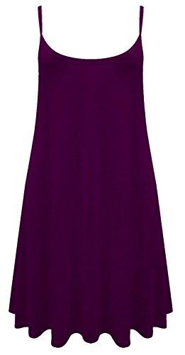 Camiseta o mini vestido sin mangas para mujer, tallas de la 36 a la 54 morado