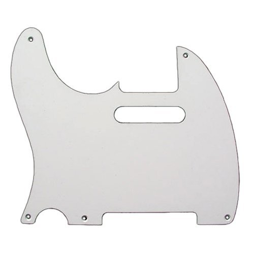 Fender Pure Vintage Pickguard, Telecaster LH, 5-Hole - White 1-Ply ()