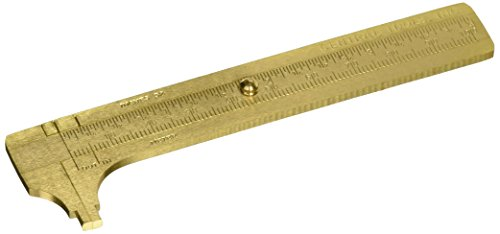 Central Tools 6506 Solid Brass Slide Rule Caliper 0-4