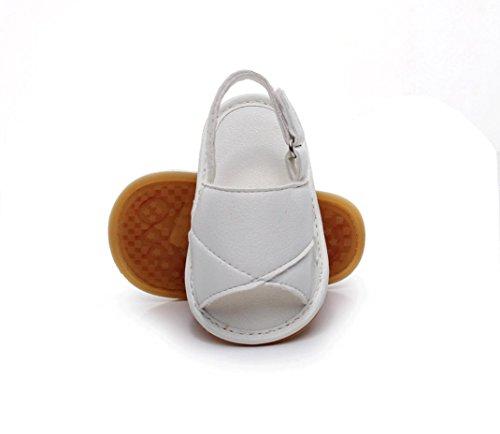 Prevently Babyschuhe Sandalen Jungen und Mädchen Sandalen Babyschuhe Kinder Baby Casual Strand Sandalen Sommer Solide Sohle Krippe Hohl Schuhe Sneaker Weiß