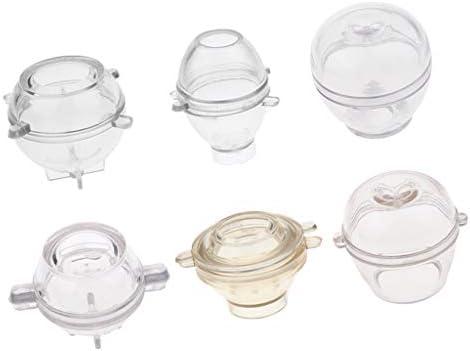 レジン型 プラスチックモールド DIYモールド 蝋燭作り 6個入り 耐久性 高温耐性