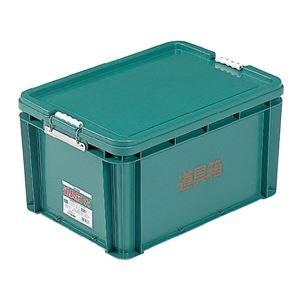 (業務用6個セット) 三甲(サンコー) 左官用道具箱/ツールボックス 【大】 PP製 グリーン(緑) 【代引不可】 B01MDS7Z3M