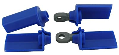 RPM Shock Shaft Guards for Most Associated 1/10 Scale Shocks, Blue