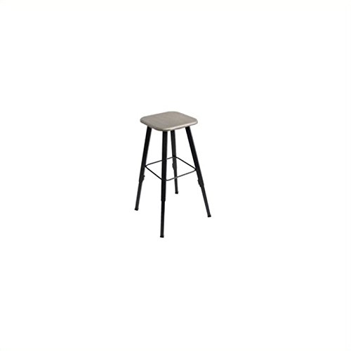 Safco Products Alphabetter Stool for Alphabetter Stand-Up Desk (sold separately), Black Frame/Beige Seat by Safco Products