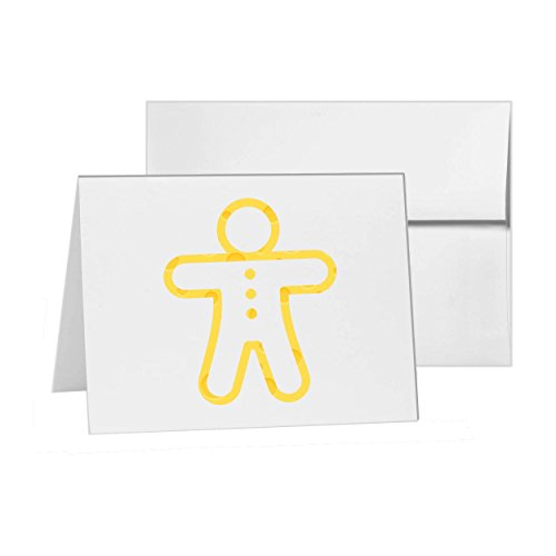 - Gingerbread Man Baking Christmas Cookie, Blank Card Invitation Pack, 15 cards at 4x6, Blank with White Envelopes Style 10546