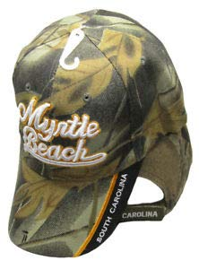 JumpingLight Myrtle Beach Script South Carolina Camouflage Camo Embroidered Cap Hat CAP722 for Home, Official Party, All Weather Indoors ()