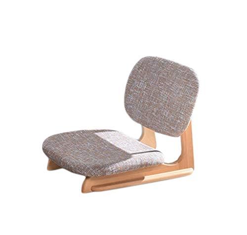 WHLMDZI Single Sofa Recliner -Coffee Table Chair - Legless Floor Chair Lazy Sofa Balcony Bay Window Seat Living Room Lounge Chair High Elastic Sponge Filled Portable 40x50x47cm (Color : Brown) (Window Cushions Seat Uk)
