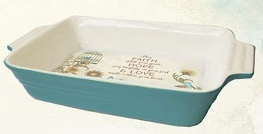 Abbey Press Faith Casserole Dish - Wall Décor Inspirational Religious Gifts 55760T-ABBEY
